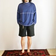 ionoi<br/>STITCH MOCK L/S TEE(NAVY)