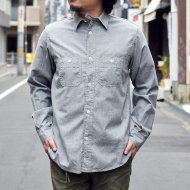 Workers(K&T H MFG Co.)<br/>STANDAR WORK SHIRTS, 5.5 oz, Gray Chambray
