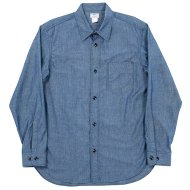 Workers(K&T H MFG Co.)<br/>1 Pocket Work Shirt, Blue Chambray