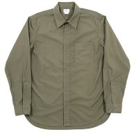 Workers(K&T H MFG Co.)<br/>1 Pocket Work Shirt, Olive Poplin