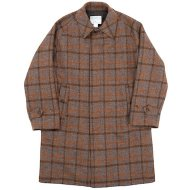 Workers(K&T H MFG Co.)<br/>Bal Collar Coat, Harris Tweed Brown Plaid