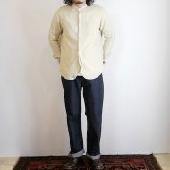 FOB FACTORY<br/>BAND COLLAR SHIRT(IVORY)