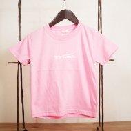 TRUNKロゴキッズTシャツ(Pink×White)