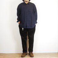FOB FACTORY<br/>MILITARY OVSIZED SHIRT(NAVY)