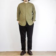 FOB FACTORY<br/>DYED BAND COLLAR SHIRT(MOCHA)