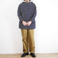 "Newlyn Smocks<br/> ""Round Neck 3Pocket Smock"" NAVY×WHITE"
