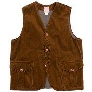 Workers(K&T H MFG Co.)<br/> Cruiser Vest, Dark Brown Corduroy