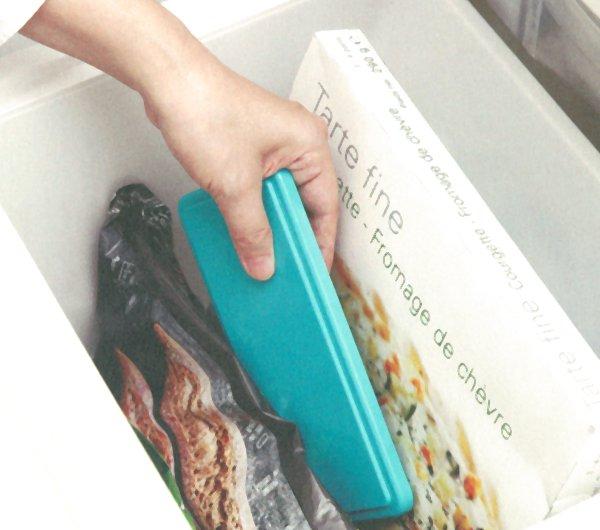 家庭用の冷凍庫で一晩凍らせるだけ