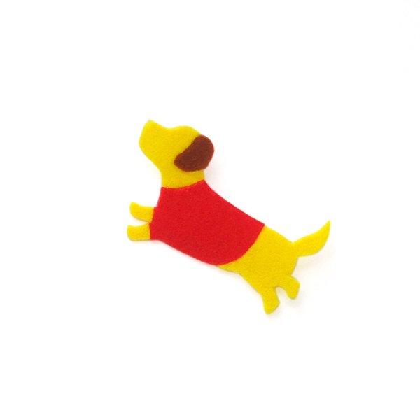 アイロン接着フェルトアップリケ<犬>A-11【リバース プロダクツ/Re:VERSE PRODUCTS】