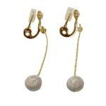 スフィア チェリー<グレージュ>ピアス/イヤリング【000/TRIPLE O】ER021