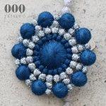 ブローチ ペブル ハナビ<ブルー×グレー>【000/TRIPLE O】BR001
