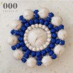 ブローチ ペブル ハナビ<ホワイト×ブルー>【000/TRIPLE O】BR001