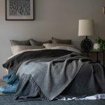 ゴットランドウールスロー 130×200cm グレー【KLIPPAN】208501