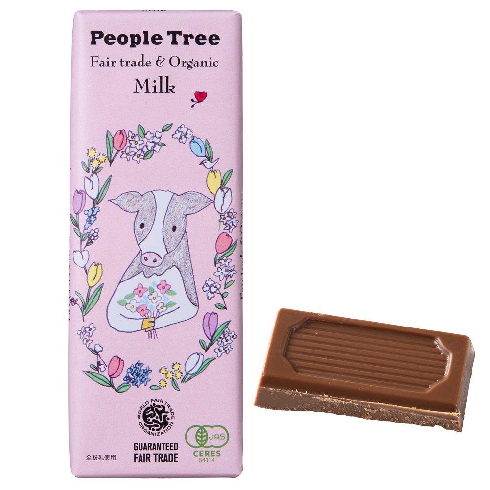 フェアトレード・板チョコレート <スペシャルパッケージ>オーガニック ミルク【People Tree/ピープルツリー】