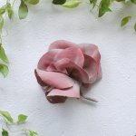 asaCorsage - 麻のコサージュ Gardenia ガーデニア<ザクロ>【&asa.co】Gar-RED