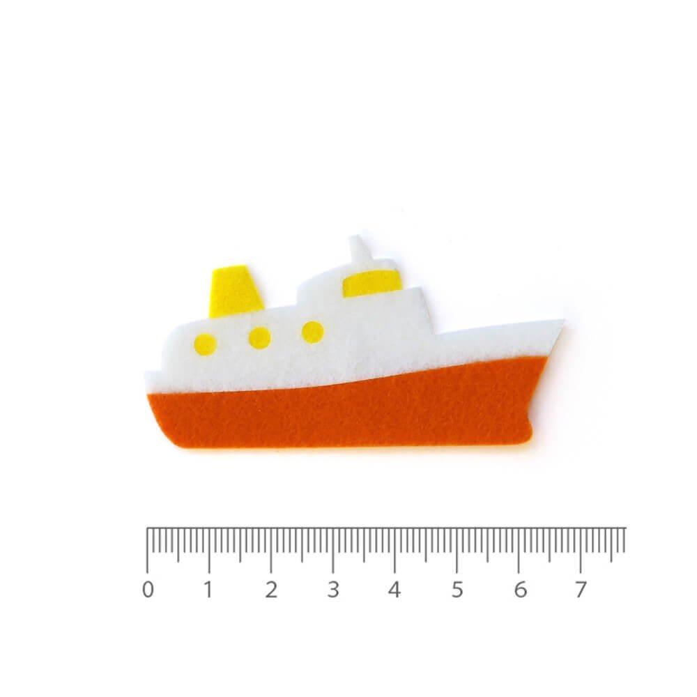 アイロン接着フェルトアップリケ 船
