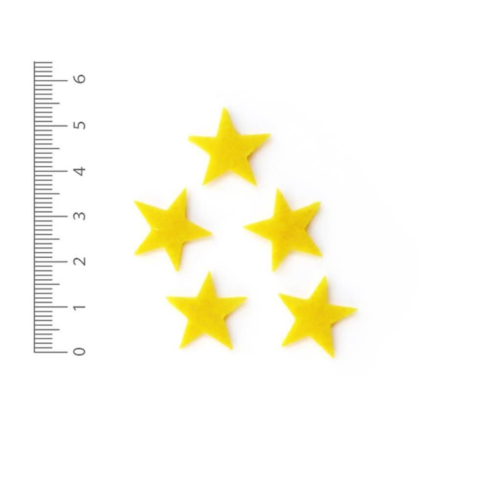 アイロン接着フェルトアップリケ 星