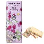フェアトレード・板チョコレート ホワイト・ラズベリー<限定パッケージ>【People Tree/ピープルツリー】