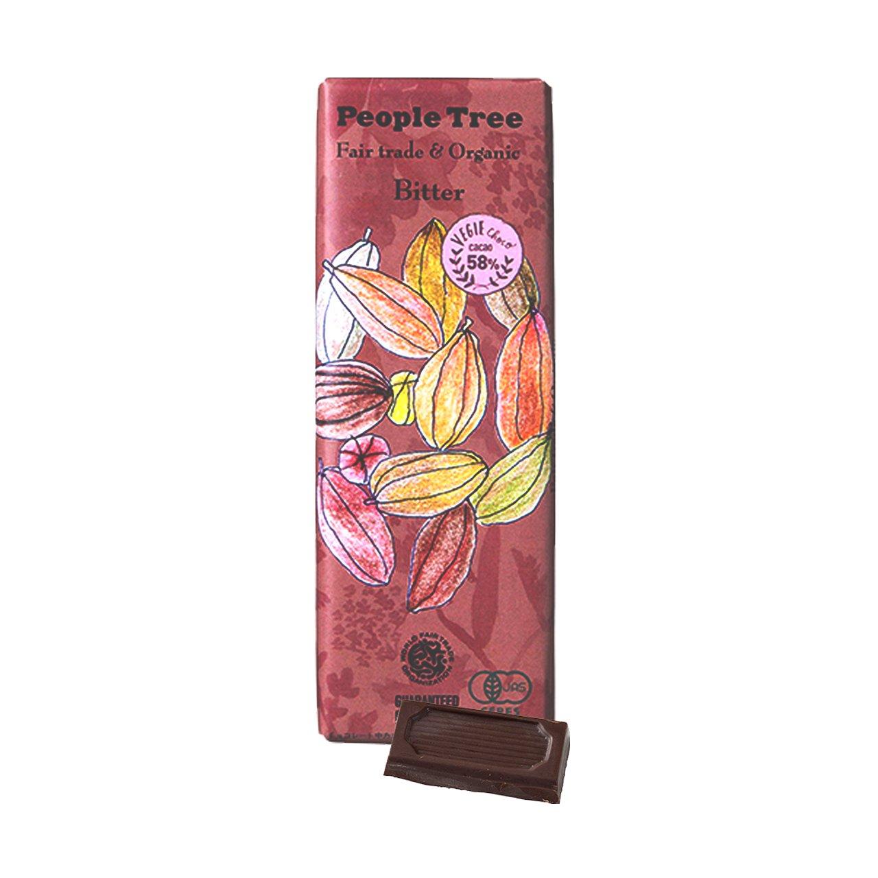 フェアトレード・板チョコレート オーガニック ビター【People Tree/ピープルツリー】