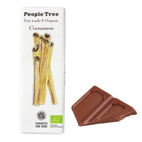 ★30%オフ★【People Tree】フェアトレード・板チョコレート シナモン