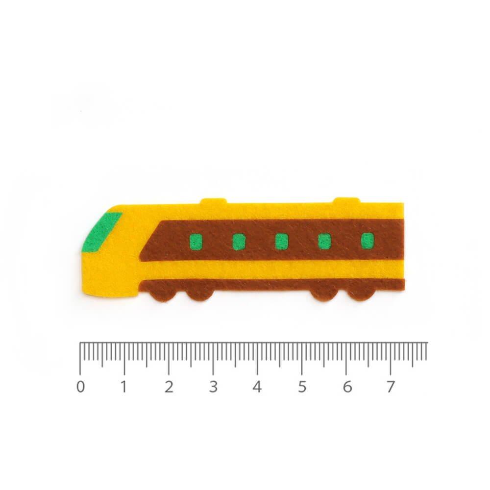 アイロン接着フェルトアップリケ 電車