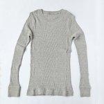 【TY1401】オーガニックコットン・ヤク混 Vネックセーター/無縫製<M>【ORGANIC GARDEN】