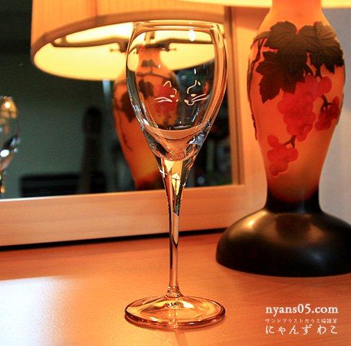 猫柄スマートワイングラス(シングル)Gh