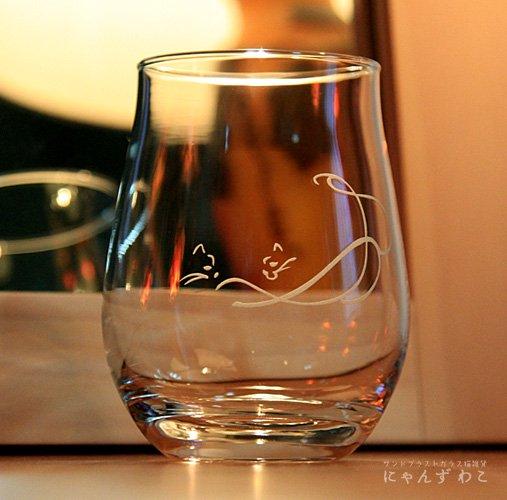 猫柄ワインテイストグラス(シングル)G-1