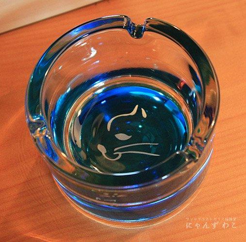 猫柄小物入れ・灰皿(底面ブルー) STB-1