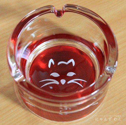 猫柄小物入れ・灰皿(底面レッド) STR-1