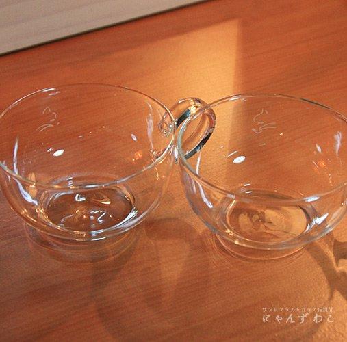 猫柄耐熱ガラス・ティーカップ(ペア) MC-6