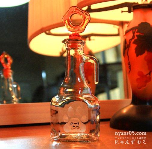 猫柄ガラスオイルボトル(取っ手付)OB-1