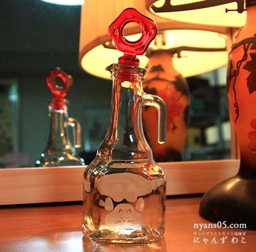 猫柄ガラスオイルボトル(取っ手付)OB-6