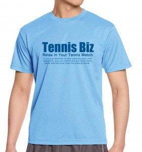 <img class='new_mark_img1' src='https://img.shop-pro.jp/img/new/icons25.gif' style='border:none;display:inline;margin:0px;padding:0px;width:auto;' />Tennis Biz ドライTシャツ/サックス×ブルー