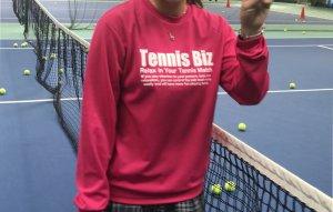 <img class='new_mark_img1' src='https://img.shop-pro.jp/img/new/icons1.gif' style='border:none;display:inline;margin:0px;padding:0px;width:auto;' />Tennis Biz ドライ長袖Tシャツ/ホットピンク×ホワイト