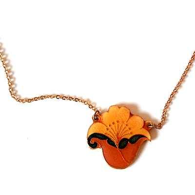 FRANCE Vintageenamel necklace