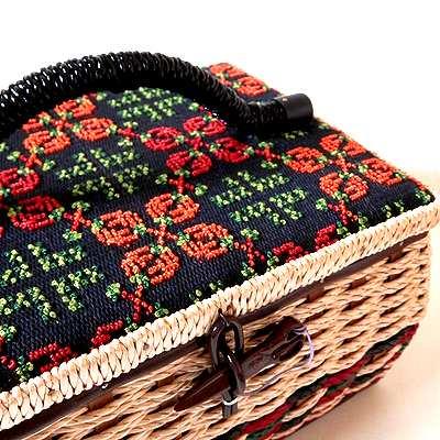 かわいいレトロ裁縫箱