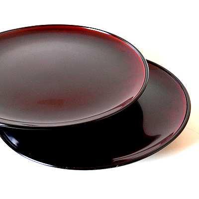 大正期漆器溜塗盛皿