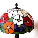 Vintage Stained glassTable lamp flower