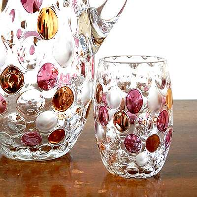 VintageBOHEMIANN glass & jag SET