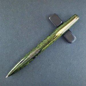 エボナイト製ボールペン 軸色:若葉(わかば/黄緑)