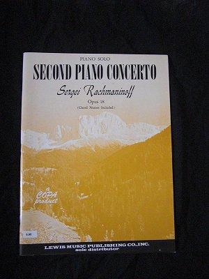 ラフマニノフ Sergei Rachmaninoff / Second Piano Concerto opus 18  (コードネーム付) Piano solo