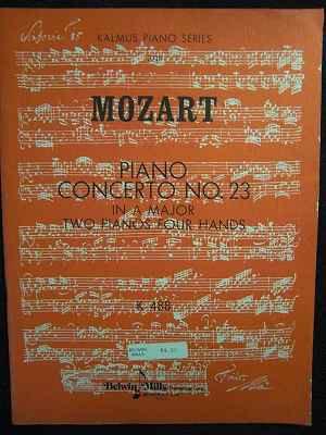 モーツァルト W.A Mozart / ピアノ協奏曲 23番 イ長調 k488 2 piano, 4 hands