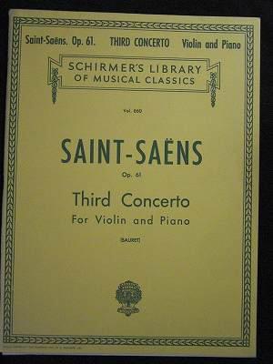 サン=サーンス Camille Saint-Saens  / Third Concerto in B Minor, Op. 61  *若干書き込みあり
