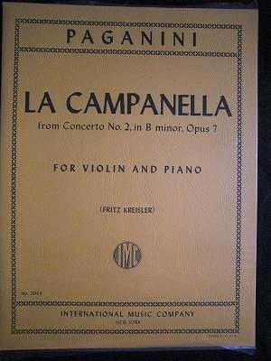 パガニーニ Nicolo Paganini  / La Campanella (The Bell), from concerto No.2  Op. 7  for Vin & …