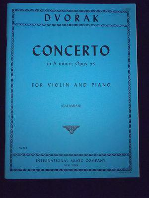 ドヴォルザーク  Antonin Dvorak / Concerto in A minor, Op. 53  for Vin & Pf
