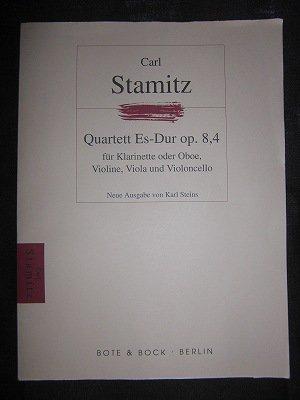 シュターミッツ  / Quartet   Op. 8 No. 4 for Clarinet (or Oboe), Violin, Viola & Cello