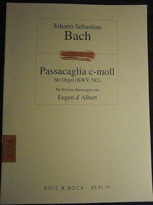 バッハ=ダルベール(編曲) Bach-d'Albert /  パッサカリアとフーガ ハ短調 for piano solo
