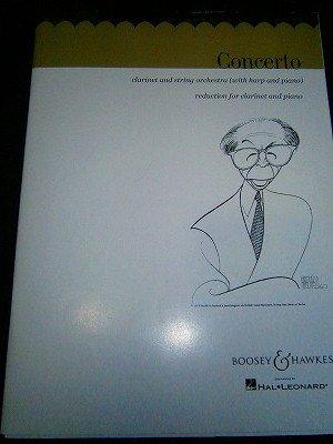 コープランド Aaron Copland / Concerto (Clarinet&Piano編曲版)