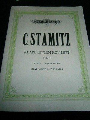シュターミッツ Carl Stamitz  /  Clarinet Concerto No.3   for Bb clarinet and piano *難あり